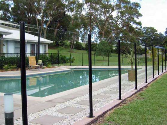 Adelaide Pool Fencing Guys can install semi-frameless pool fences with aluminium posts in a range of Dulux colours