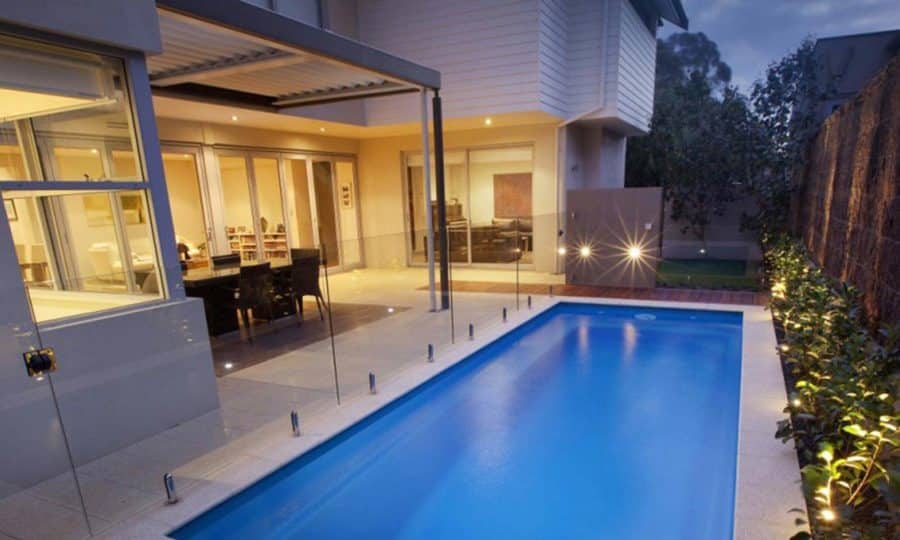 Frameless glass pool fence installed using high grade, durable, glass