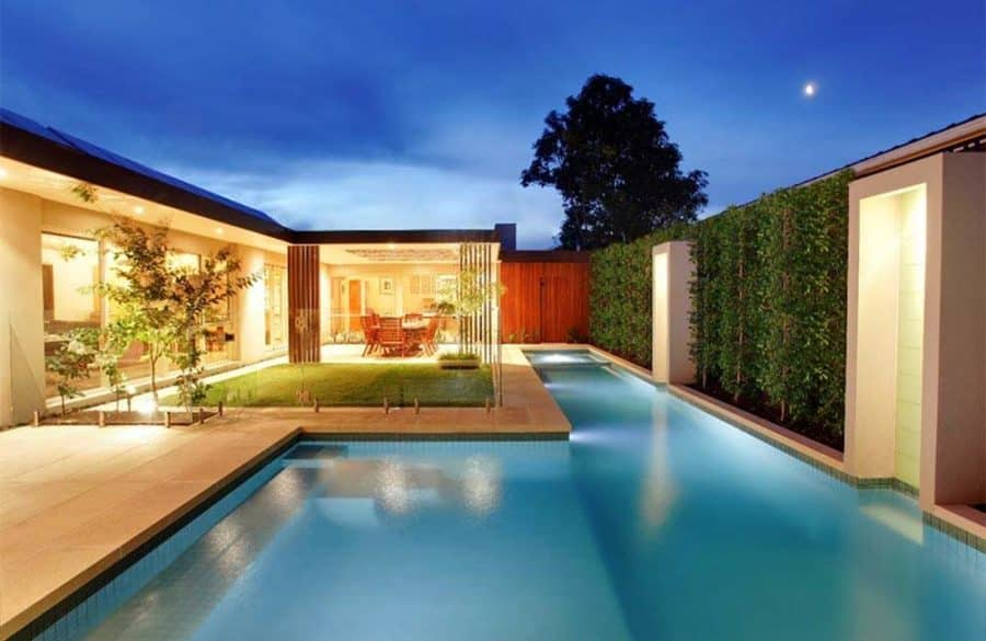 One of our glass pool fences installed in suburban Adelaide