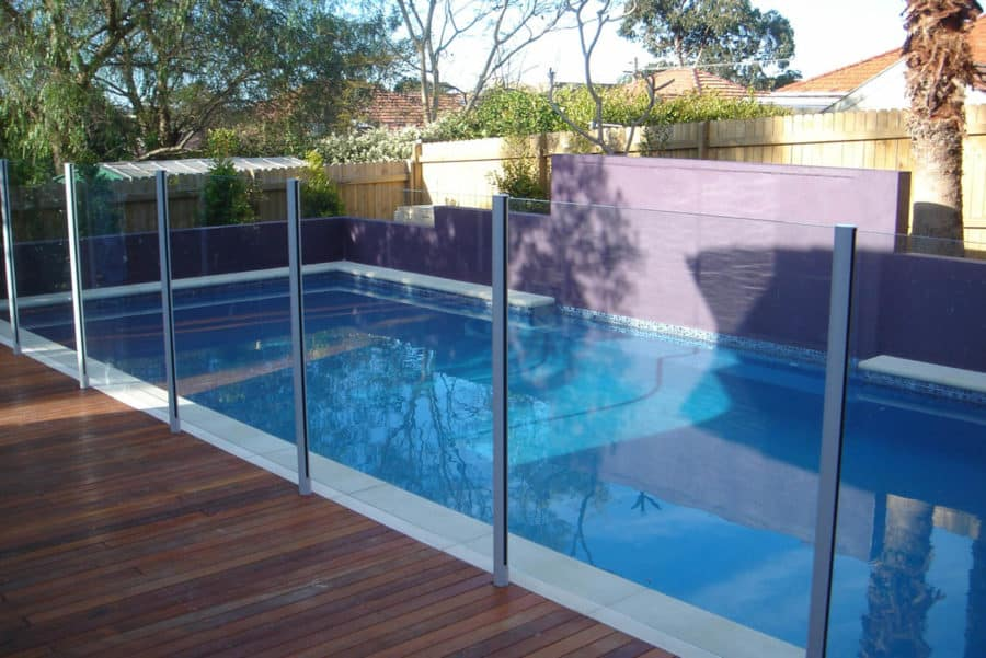 Semi frameless glass swimming pool fencing done for a Prospect client