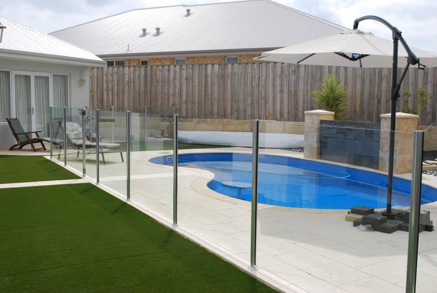 Semi frameless glass pool fences are made from 10mm toughened safety glass and are a cost-effective way of upping your swimming pool's style quotient