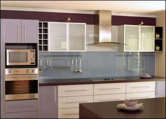 Get additional storage space in your kitchen using our splashbacks like this Salisbury client